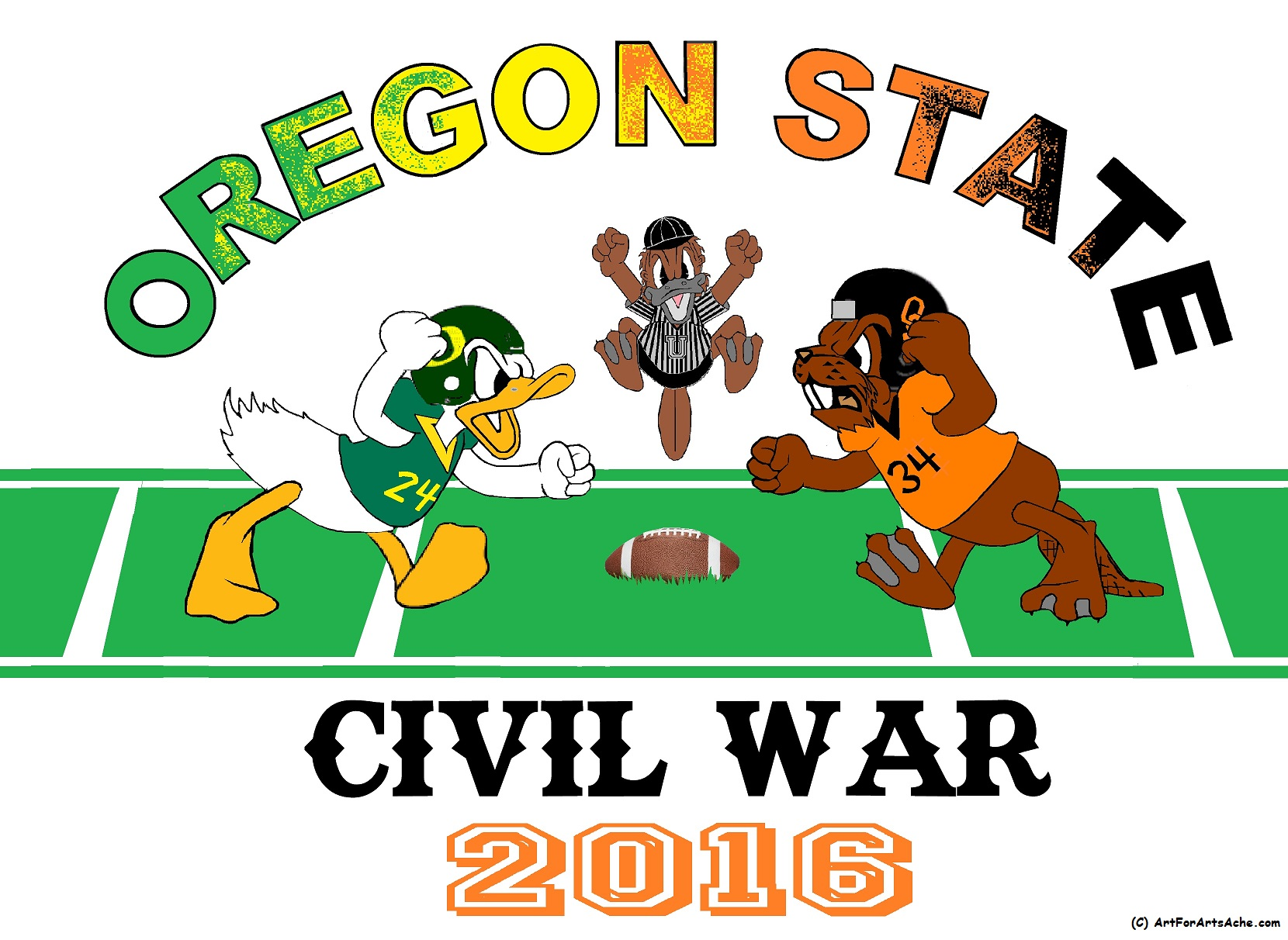 Congradulations to the OSU Beavers football team, 2016 game winners